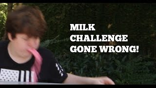 MILK CHALLENGE GONE WRONG!!