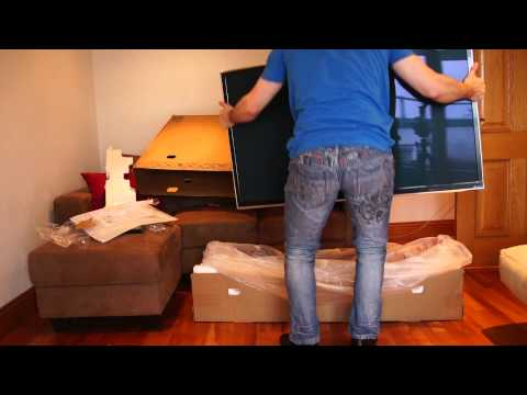 Panasonic Smart 3D Viera Plasma HD TV 50 Inch TX-P50GT60B Unboxing (& Assembly)