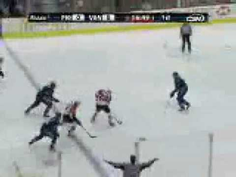 Jeff Carter Goal # 27 12-30-08 Philadelphia Flyers @ Vancouver Canucks