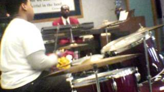 tim killin drums at church