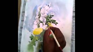flower vase watercolor course 2 by shohag parvez