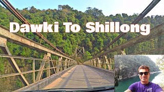 Dawki to Shillong Wonderful Journey by Road HD | North East India