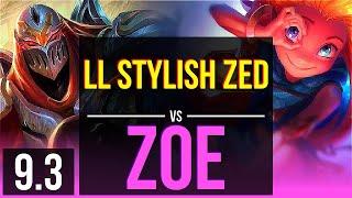 LL Stylish ZED vs ZOE (MID) | NA Diamond | v9.3