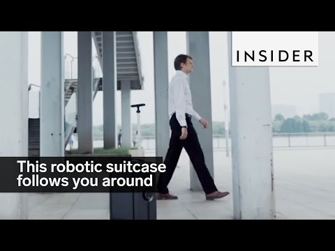 This robotic suitcase will follow you around