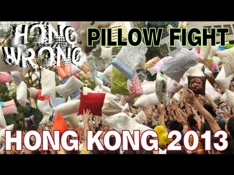 Hong Kong International Pillow Fight Day 2013 Compilation 國際香港枕頭大戰日! hongwrong.com
