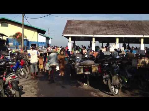 Entering the fish market Makassar
