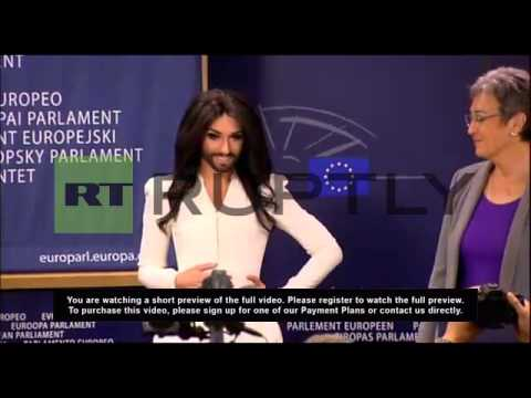 Belgium: 'Get on with your jobs!' Conchita Wurst tells Euro Parliament