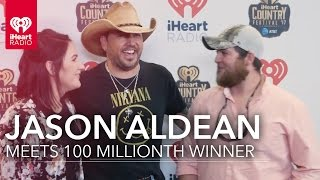 Download Lagu Jason Aldean Meets Fan at iHeartCountry | 100 Millionth iHeartRadio Winner Gratis STAFABAND