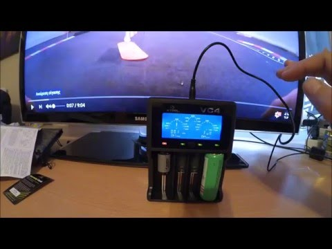 Xtar VC4 Battery Charger Greek Review&Unboxing [Gearbest]