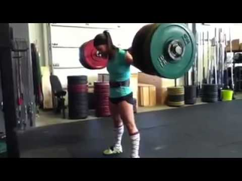 Girl Squats More Than Most Guys 300 Pounds Youtube