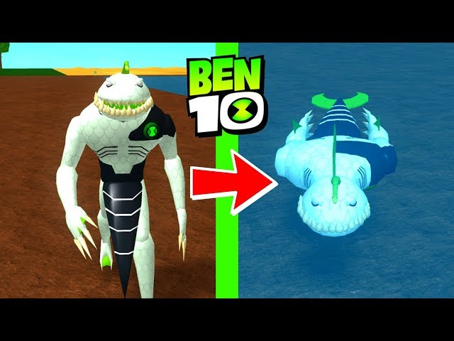 Roblox Ben 10 Ripjaws Awesome Abilities Arrival Of Aliens Remake Update