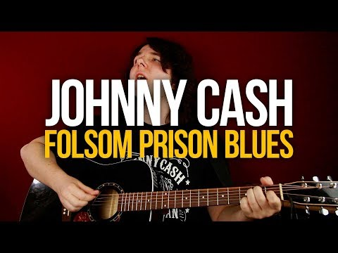Как играть кантри на гитаре Johnny Cash Folsom Prison Blues [вместе с соло]