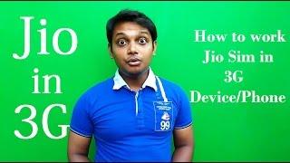 How To Work Jio Sim in 3G Device/Phone!!!! | Jio 3G mei!!!!![Hindi]