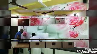 HOW TO 3D WALLPAPER PASTING. 3D WALLPAPER INSTALLING. 3D WALLPAPER IDEAS. 3D PAINTING. 3D WALLPAPER.