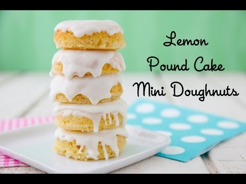Lemon Pound Cake Mini Doughnuts - Easter Dessert Recipe - Weelicious