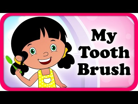 My Tooth Brush Lyrical Video | English Nursery Rhymes Full Lyrics For Kids & Children video