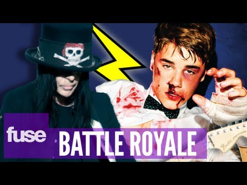 Justin Bieber vs. Mick Mars Fan Attacks - Battle Royale