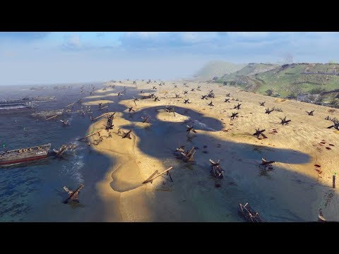 D-Day Normandy Landings 1944 - First Wave   RobZ Realism   Men of War: Assault Squad 2 Gameplay