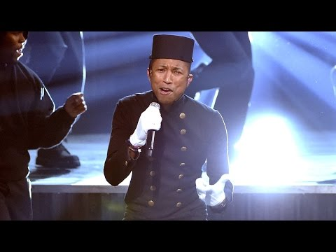 Pharrell's 'Happy' 2015 Grammys Performance!