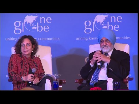 Dr. Ahluwalia answers probing questions from the One Globe audience