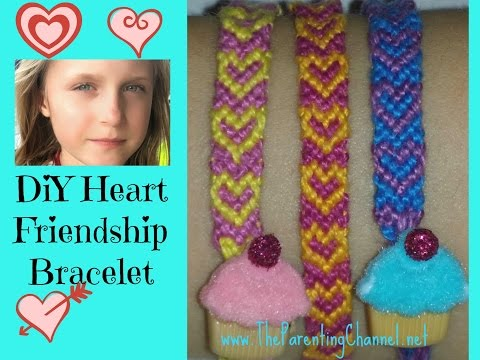 How to make - HEART FRIENDSHIP BRACELET DIY