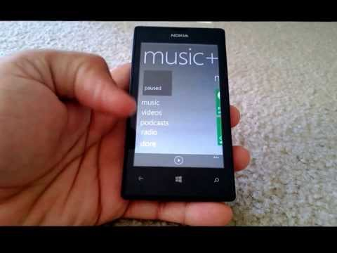 AT&T Nokia Lumia 520- FM Radio. Display+Touch. Double Tap to Wakeup - GDR2 + Lumia Amber