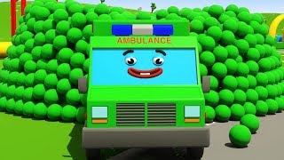 Ambulance, Fire Truck and Police Car - Emergency Vehicles for children 3D Cartoon
