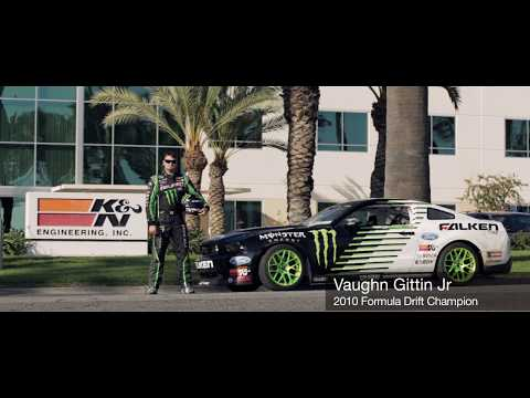 Vaughn Gittin Jr. Mustang Burnout & Chase of RC Drift Car