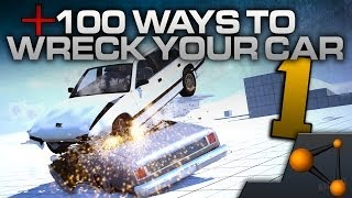 +100 WAYS TO WRECK YOUR CAR! - Part 1 (BeamNG)