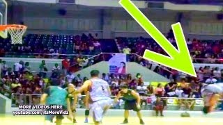 Jhong Hilario BACK FLIP Basketball FREE THROW Trick ( back tumbling backflip freethrow ESPN)