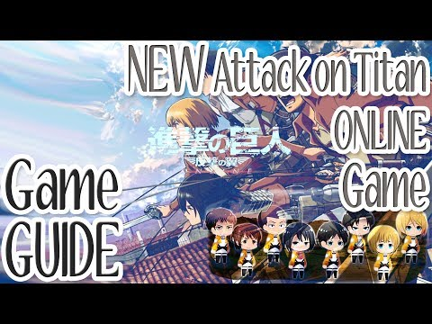 "GAME GUIDE: NEW Attack on Titan ONLINE strategy Game ""Hangeki no Tsubasa"" (Japan ONLY)"