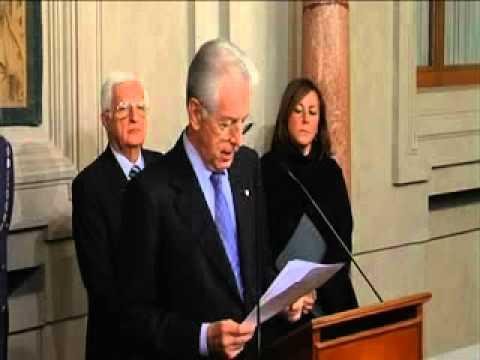 Mario Monti presenta i nuovi ministri