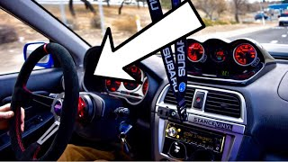 BRZ gets a QUICK RELEASE Steering Wheel