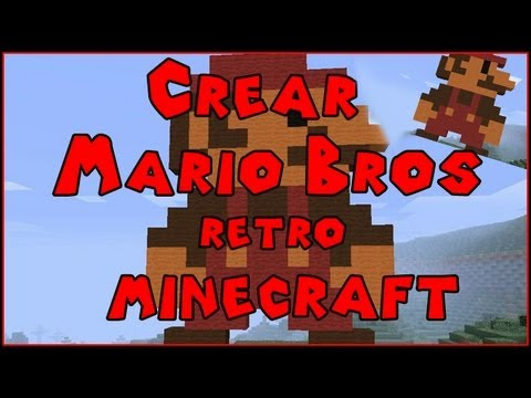 [Tutorial]  Minecraft Pixel Art | Mario Bros Retro en Minecraft | Muy bonito y a