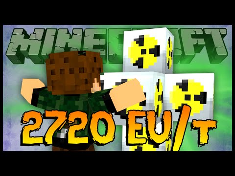 Super Reator Nuclear de 2720 EU/t - Minecraft com Mods