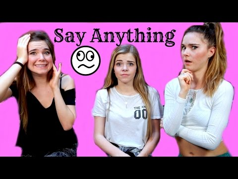 SAY ANYTHING CHALLENGE with dares!- Nina and Randa & Griffin Arnlund