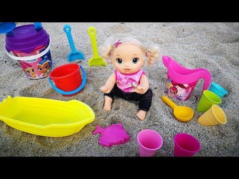 Куклы Пупсики Девочка На Море Игрушки для песка Детский канал 108маматв