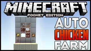 Minecraft PE: Automatic chicken farm 3x5x6