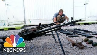 Battlefield Researchers Uncover ISIS Arsenal And Weapons Factory In Iraq | NBC News