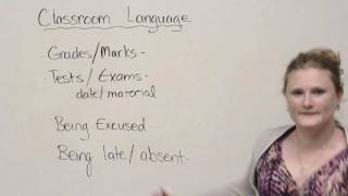 Speaking English - Classroom vocabulary and expressions