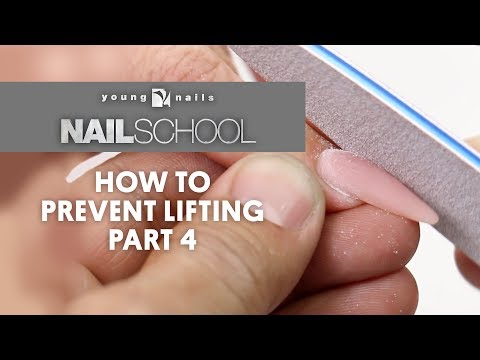YN NAIL SCHOOL - HOW TO PREVENT LIFTING PART 4