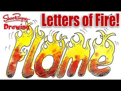 Fire Words Drawing How to Draw Letters of Fire