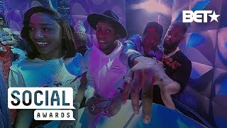 Justin Combs, Reginae Carter, BlameItOwnKway Are Lit On The 360 Cam! | BET Social Awards