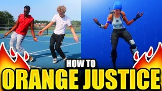 "HOW TO ""ORANGE JUSTICE"" DANCE TUTORIAL! FORTNITE DANCE TUTORIAL!"