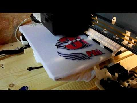 Home made T-shirt printer.