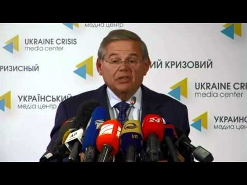 (English) Robert Menendez. Ukraine Crisis Media Center, 1st of September, 2014