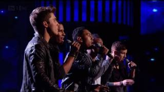 Nu Vibe's Live Results sing off  - The X Factor 2011 Live Results Show 2 (Full Version)