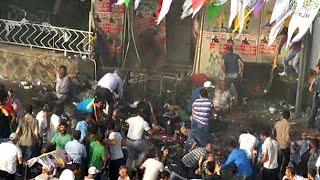 HDP'nin Diyarbakır Mitinginde Patlama; çok Sayıda Yaralı Var (İLK GÖRÜNTÜLER)