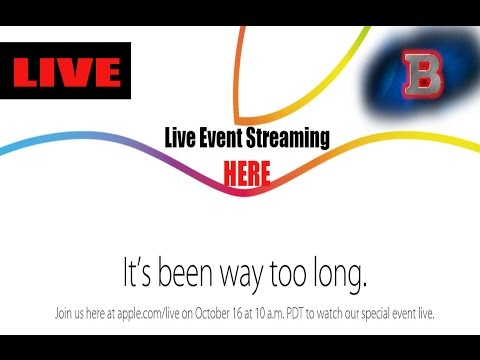 Apple iPad Air 2 Event - Live Event Stream! - October 16th, 2014!