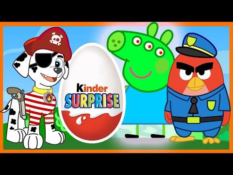 Свинка Пеппа - Щенячий Патруль - Энгри Бёрдс - Киндер Сюрприз. Paw Patrol - Angry Birds - Peppa Pig
